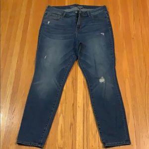 Old Navy Rockstar Semi-Distress Skinny Jeans - 14S